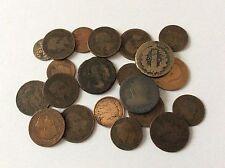 Lot de 21 pièces anciennes en Bronze France
