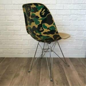 a bathing ape Bape MODERNICA BAPE CAMO SIDE CHAIR ABC camo green Rare used