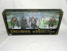 LORD OF THE RINGS : KINGS OF THE MIDDLE EARTH 5 FIGURE SET  - NEW (FREE UK P&P)