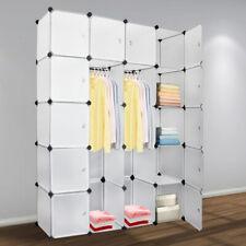 Regalsystem Kleiderschrank 20 Würfel mit Türen Steckregal Garderobe DIY