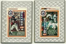 Dick Butkus & Gale Sayers - 1994 SGA Jersey Retirement Cards  - Chicago Bears