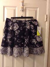 PRABAL GURUNG For Target Floral Print A-Line Flare Skirt: Size 8: Retail $29