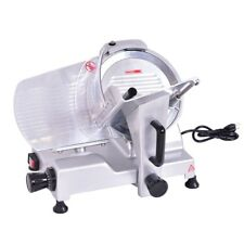 "10"" Blade Semi-Auto Meat Slicer Deli Meat Cheese Food Commercial Machine Home Us"