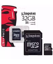 KINGSTON MICRO SD SCHEDA DI MEMORIA SDHC CLASSE 10 32GB di memoria con Adattatore SD Card