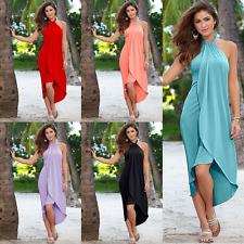 Womens Boho Maxi Dress Evening Cocktail Party Ladies Summer Beach Sun Long Dress