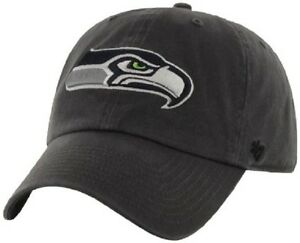 Seahawks Charcoal Twins Ent. Clean-Up Adjustable 47' Brand Hat Cap