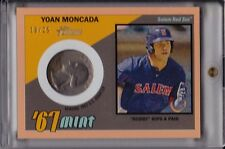 Yoan Moncada 2016 Topps Heritage Minors '67 Mint Peach Quarter #d /25 Coin Relic