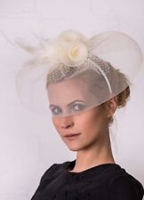 BNWT Ruby Rocks Large 3 Flower & Mesh Fascinator - Ivory RRP £22.00