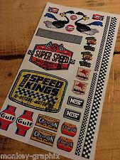 24tlg. RC 1:18 modello Oldschool ADESIVI Roadrunner 76 NOS v8 vintage sticker
