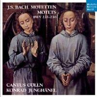 CANTUS CÖLLN - MOTETTEN  CD NEW BACH,JOHANN SEBASTIAN