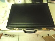 Vintage L.A. Brief Leather Hard Side Attache Case/Brief Case Black Combo Lock