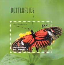 Micronesia- 2014 Butterflies on Stamps - souvenir sheet MNH