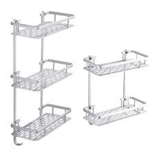 2/3 Tier Rectangle Bathroom Holder Organizer Bath Caddy Shelf Tower Rack Storage