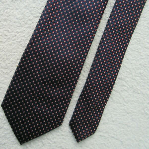 NAVY BLUE BURGUNDY WHITE MINI SQUARE 3.25 INCH polyester necktie TIE