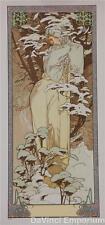 Mucha Foundation Winter 1900 Fine Art Limited Edition Lithograph COA S2