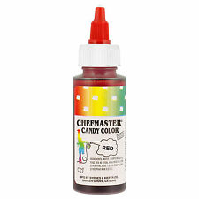 Chefmaster Red Liquid Candy Color, 2 Ounce Free Shipping! NEW