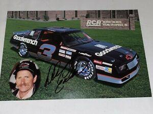 Dale Earnhardt RCR 1988 CHEVY #3 VINTAGE NASCAR autographed photo RARE HOFer