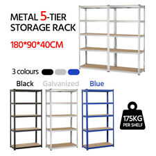 Heavy Duty Metal 5 Tier Garage Shelving Unit Shed Storage Shelves Boltless Rack