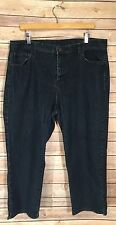 Jaclyn Smith Size 18 Denim Jean Wide Leg Crop