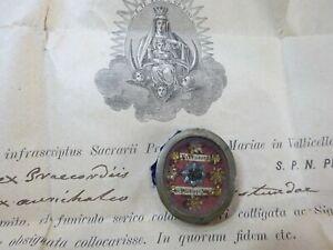 ✝ Reliquary Relic 1st Class St. Philip Neri + Document