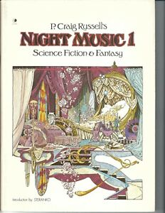 P. CRAIG RUSSELL'S NIGHT MUSIC 1 SCIENCE FICTION & FANTASY 1ST PRINTING 1979