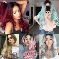 """26"""" Synthetic Hair Full Wigs Natural Long Wavy Wig Heat Resistant Multi Color"""