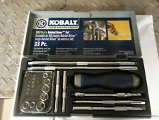"Kobalt 33 Piece SAE / Metric Ratchet Drive Set 1/4"" Drive #68702"