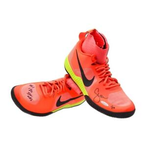 Serena Williams Signed Autographed Pink Nike Flare Court Shoes Inscribed /10 UDA