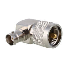 UHF PL-259 Male to BNC Female Right Angle 90 Degree RF Adapter Connector