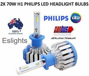 2X H1 PHILIPS LED  CAR HEADLIGHT HI LOW BEAM BULB LAMP HALOGEN CANBUS CAR UTE