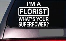 """Florist Superpower 8"""" Sticker *G402* Decal flowers bouquet roses valentine"""