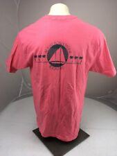 Vintage 90s MAUI SCHOONER RESORT coral Pink Sailboat T-shirt SS XL USA MADE
