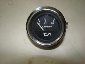 74-85 Alfa Romeo Spider Oil Pressure Gauge Chrome Bezel
