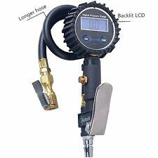 Digital Tire 300 PSI Inflator with Pressure Gauge Air Chuck for Truck/Car/Bike #