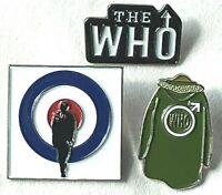 THE WHO Rock Band Lapel Pin Set of 3 (DALTREY - TOWNSHEND - ENTWISTLE - MOON)