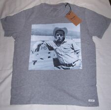 WRANGLER T-Shirt Maglia Vintage Grigio Stampa NEWMAN Tg.XL