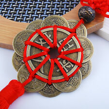 Chinese Knot Tassel Hanger Feng Shui Coins Pendant Key Ring String Car Hanging