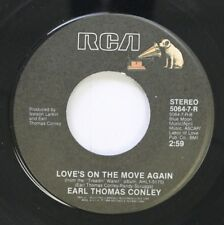 Country 45 Earl Thomas Conley - Love'S On The Move Again / I Can'T Win For Losin