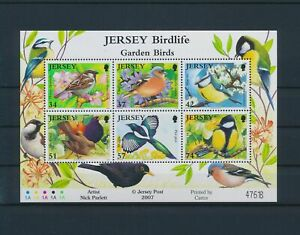 LO44515 Jersey animals fauna flora birds good sheet MNH