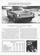 1973 Jensen-Healey Convertible Road Test & Technical Data Article