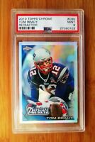 2010 Topps Chrome Refractor #80 TOM BRADY PSA 9 MINT