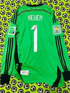 ULTRA RARE Adidas Germany GK Soccer Football Jersey World Cup 2014 Final Neuer