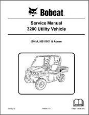 Bobcat 3200 Utility Vehicle UTV Service Manual on a CD