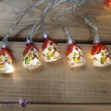 Gisela Graham Retro Glass Houses LED Fairy Christmas Tree Lights Decoration 3.1m