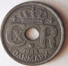 1944 DENMARK 25 ORE - AU Nazi Occupation Coin- Free Ship -Premium Vintage Bin #4