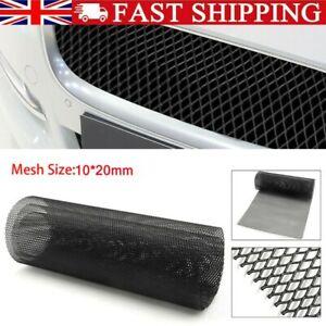 Black Grill Mesh Aluminium Alloy Car Bumper Vent Metal Rhombic Grille Net UK