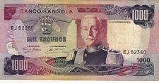 BILLET BANQUE ANGOLA 1000 escudos 1972 état voir scan 380