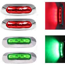 2X GREEN + 2X RED LED CLEARANCE LIGHTS SIDE MARKER LAMP TRAILER TRUCK 9 - 33V