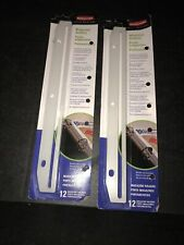 3 Hole Punched Plastic Edge Strip Magazine Holders For Ring Binders 2 Packs