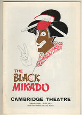 """The Black Mikado""  Playbill London 1975  Michael Denison"